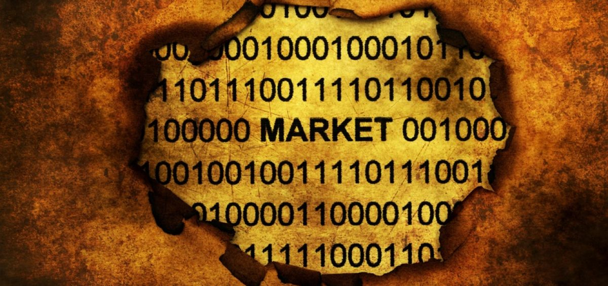 Data market on paper hole