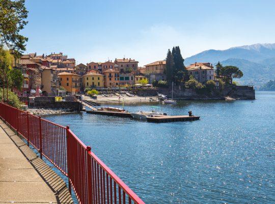 Town of Varenna on lake Como, Milan, Italy.