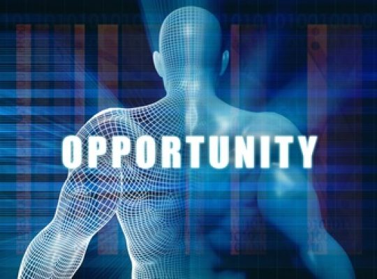 Opportunity as a Futuristic Concept Abstract Background