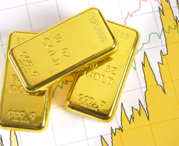 three gold bars on chart