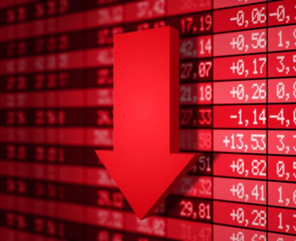 Bourse dans le rouge